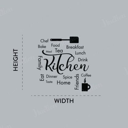 Kitchen Quote Wall Decor for Home for kitchen Wall Art Decal