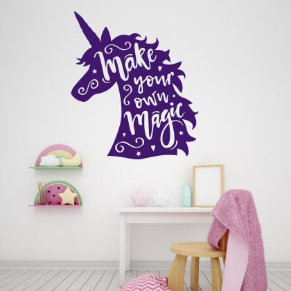 Unicorn wall decal Unicorn stickers unicorn girl room wall art sticker for unicorn wall decal