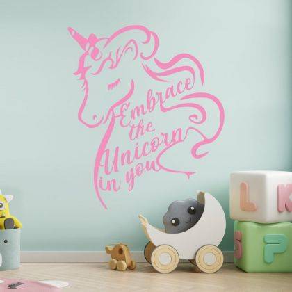 Unicorn stickers for unicorn girl room wall art sticker unicorn wall decal