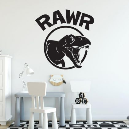 Rawr Dinosaur Wall Stickers for Dinosaur Wall Decals for Nursery and Kids Room