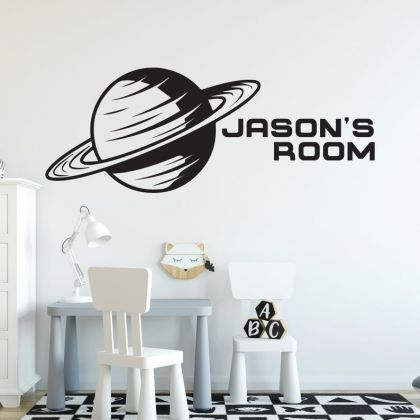 Space Wall Decal Nursery for Outer Space Decor Boy Room Wall Decor