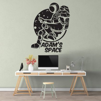 Custom Name Space Wall Decal Nursery Outer Space Decor for Boy Room Decor