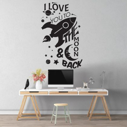 Space Wall Decal Outer Space Decor for Space Themed Room