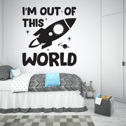 Out of this World Space Wall Decal for Boy Room Decor Space Themed Room