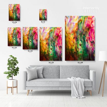 Acrylic Colors And Ink In Water Wall Art Canvas with Frame Poster Print Decoration Living Dining Room Modern Wall Hangings Gift