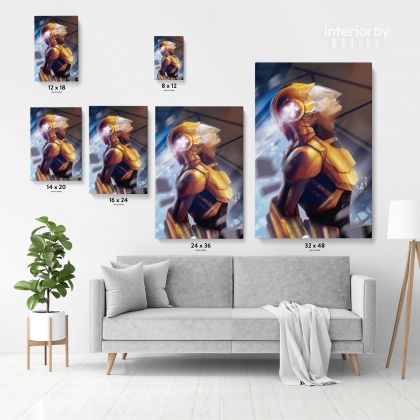 Miss Marvel Fantasy Art & Abstract Canvas with Frame Marvel Women Gaming Zone Home Gamer Decor Super Heroines Canvas Wall Hangings Gift