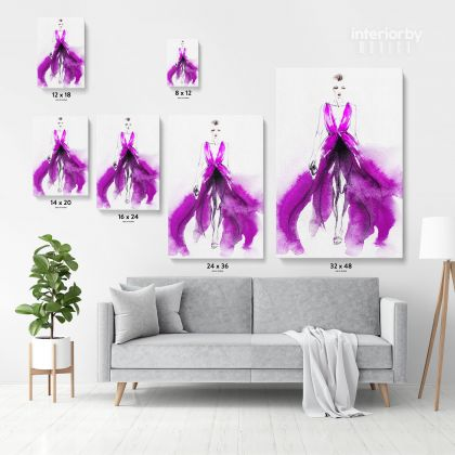 Creative Modern Women Watercolor Painting Posters Print Canvas with Frame/Rolled Wall Hangings Wall Art Mural