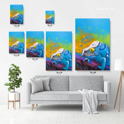 Toads Frog Pastel Original Painting Posters Print Canvas with Framed