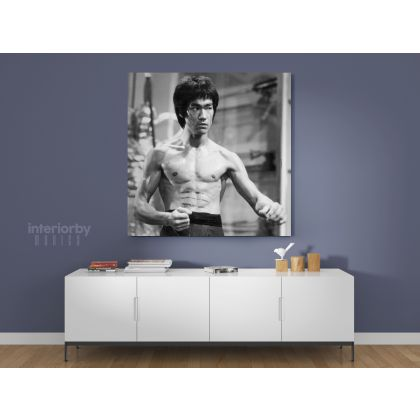 Bruce Lee Poster Martial Arts Dragons Canvas with Frame Home Decoration Canvas