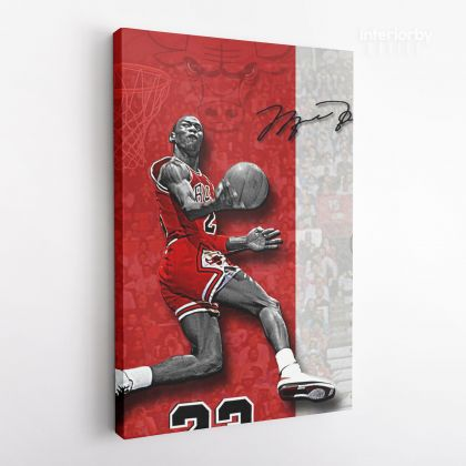 Michael Jordan Basketball Canvas with the Frame or Rolled Canvas Kids Gaming Zone Home Decor