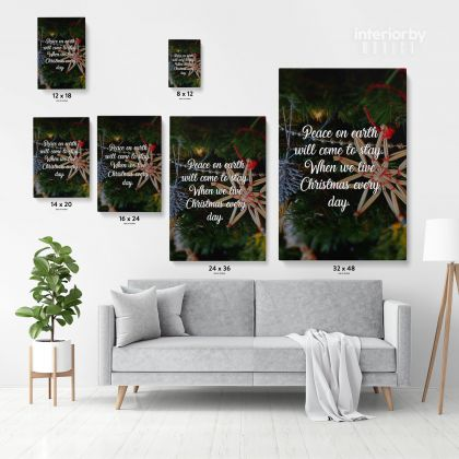 Merry Christmas Quote Print Painting Framed Canvas for Rolled Home Decor