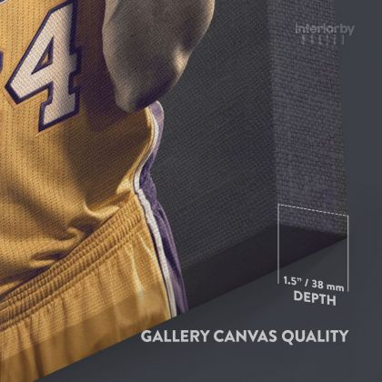 Basketball Player Kobe Bryant Photo Print Canvas or Rolled Last Game Mamba Mentality Home Decor