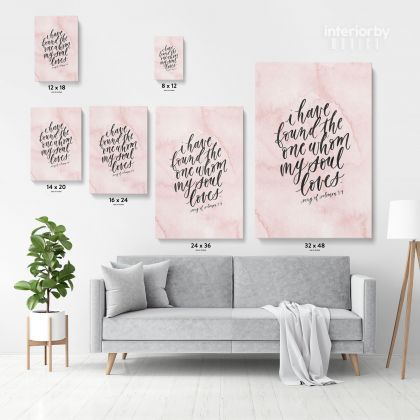 Christmas Gift Bible Verse Canvas Office Decor Scripture Art Decals Bible Quotes