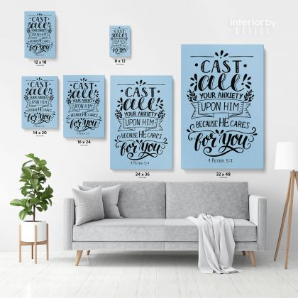 Bible Verse Canvas Office Decor Scripture Art Decals Bible Quotes Canvas