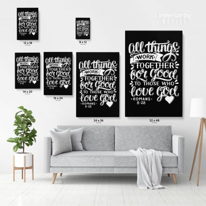 Love God Bible Verse Canvas Office Decor Scripture Art Decals Canvas