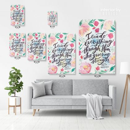 Bible Verse Canvas Office Decor Scripture Home Wall Hangings Christmas Gift