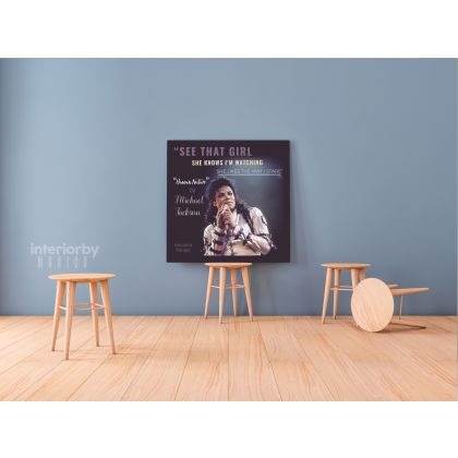 Michael Jackson King of Pop Quote Canvas Mj Dance Moves Wall Art Print Poster Mural Canvas
