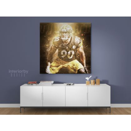 T. J. Watt Pittsburgh Poster Steelers Poster Football Canvas
