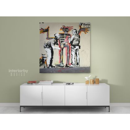 Banksy Style Jean Michel Basquiat Canvas
