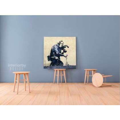 Banksy Style Street Graffiti Art Collection Canvas