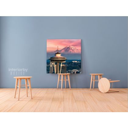 Seattle Skyline Print Photo Poster Canvas with Frame or Rolled Canvas ation Living Room Bedroom Wall Hangings