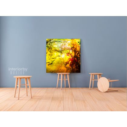 Modern Abstract Canvas Acrylic Colors And Ink In Water Art Canvas with Frame Poster Print Living Dining Modern Wall Hangings Gift