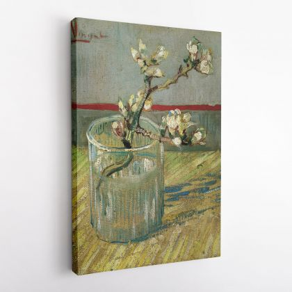 Vincent Van Gogh Painting Blossoming Almond Branch In A Glass Abstract Painting Photo Print on Canvas