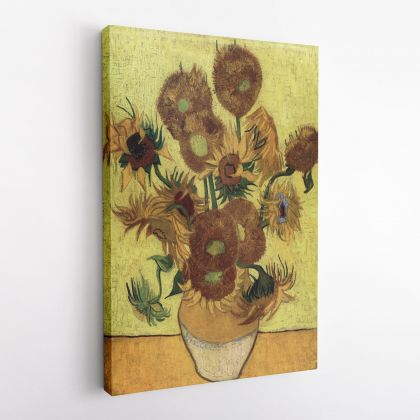 Vincent Van Gogh Painting Sunflowers Poster Photo Print on Canvas with Frame Abstract Painting Wall Art