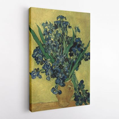 Vincent Van Gogh Painting Irises Abstract Painting Photo Print on Canvas