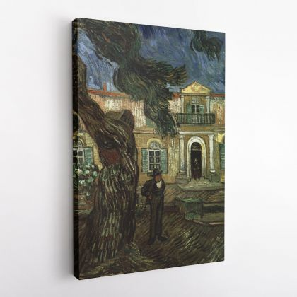 Vincent Van Gogh Painting Pine Trees Garden Saint Paul Hospital Abstract Painting Canvas