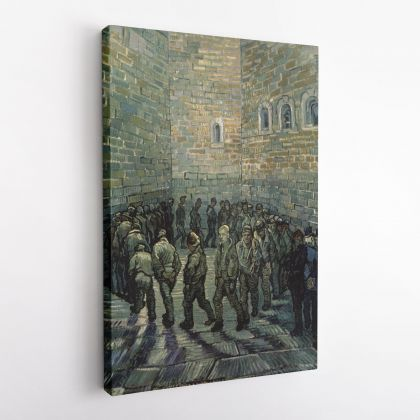 Vincent Van Gogh Painting Prisoners Exercising Photo Print on Canvas