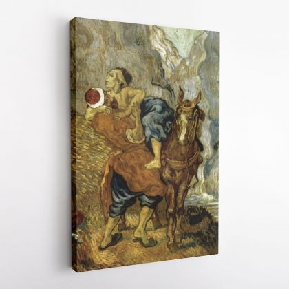 Vincent Van Gogh Painting The Good Samaritan Abstract Painting Photo Print on Canvas