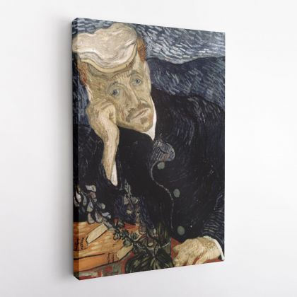 Vincent Van Gogh Painting Portrait Of Dr.Gachet Abstract Painting Photo Print on Canvas