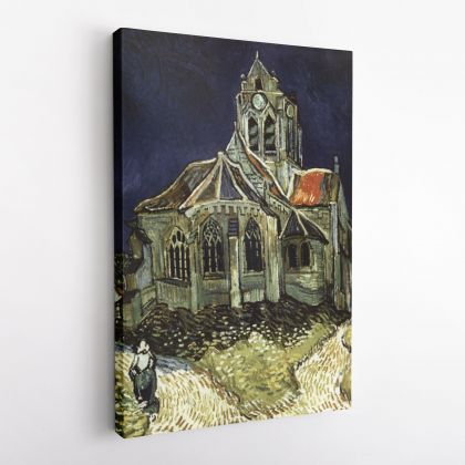 Vincent Van Gogh Painting The Church At Auvers Abstract Painting Photo Print on Canvas