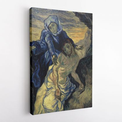 Vincent Van Gogh Painting Pieta After Delacroix Abstract Painting Photo Print on Canvas