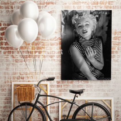 Marilyn Monroe Sexy Black and White Canvas Model Singer Nude Photo Canvas