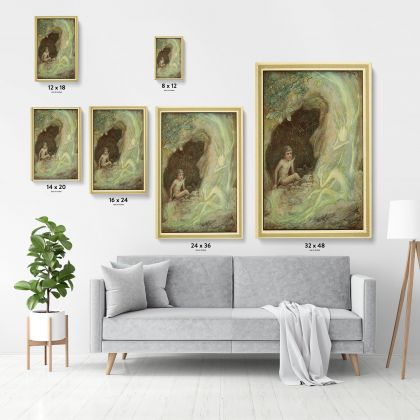 Painting Original Wall Artwork Photo Poster Print in Canvas with Frame, Painting in Canvas