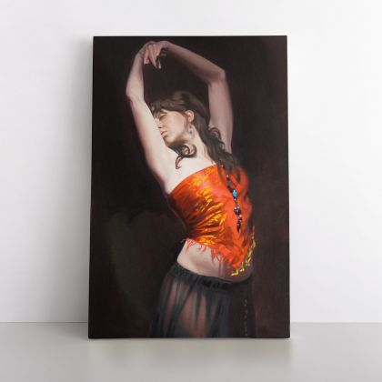 Women Dancing Painting by Famous Owen Claxton Photo Print on Canvas Wall Mural Hangings Gift