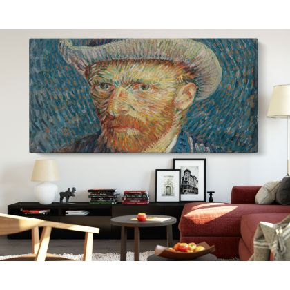 Vincent Van Gogh Self Painting Photo Print on Canvas Posters Home Decor Bedroom Wall Mural Ready to Hang