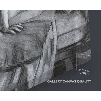 Panoramic Women's Erotica Artworks by Owen Claxton Photo Print on Canvas