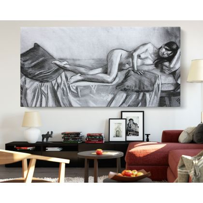Panoramic Women's Erotica Artworks by Owen Claxton Canvas Photo Print Home Decor Wall Mural Hanging