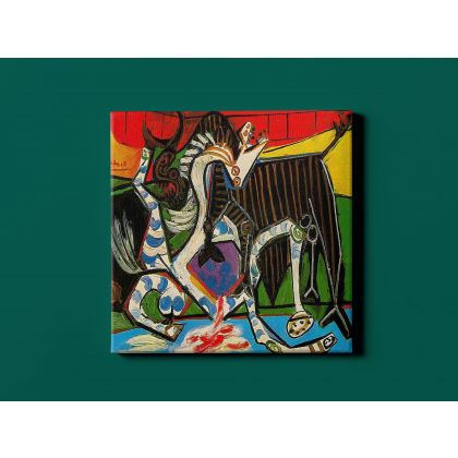 Pablo Picasso: Bullfight Art Famous Modernism Artistic Canvas Painting Photo Print Home Decor Wall Mural Gift