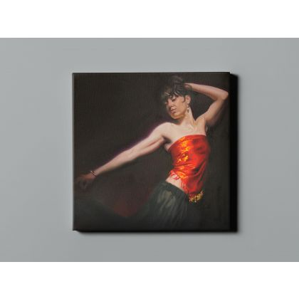 Women Dancing Artworks by Owen Claxton Photo Print on Canvas