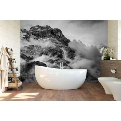 Mountain Snow Wallpaper Nature Removable Wallpaper Self Adhesive Peel and Stick For Wall Decor
