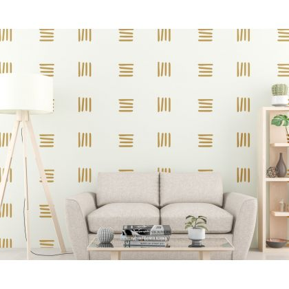 Abstract Boho Wall Stickers Set of 50 Lines wall Decal
