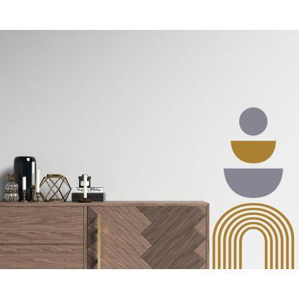Half Circle & Polka Dot wall Decal Abstract Boho Wall Stickers