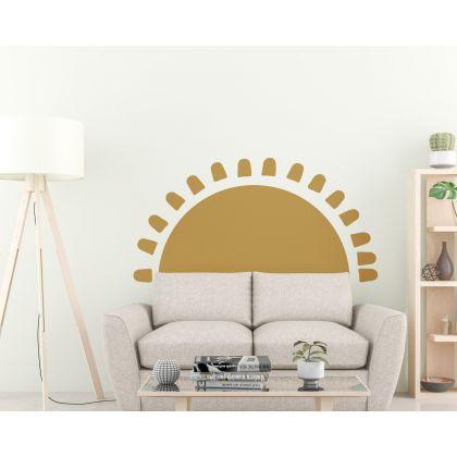 Boho earthy sun wall Decal nursery wall decor boho wall sticker