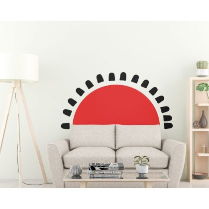 2 Colour Boho earthy sun wall Decal nursery wall decor