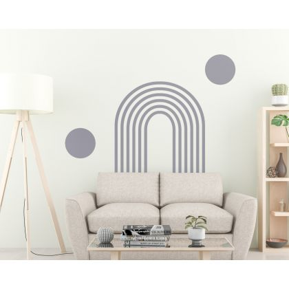Circle & Boho Arch wall Decal Abstract Boho Wall Stickers