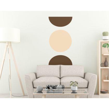 Half Circle with Circle Wall Decal Scandinavian Room Nursery Decor